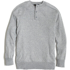 United By Blue Merino Blend Pull Henley Homme, heather grey